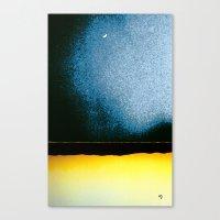 moon phase Canvas Prints featuring New Moon - Phase I by Marina Kanavaki