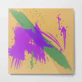 Intrepid, Abstract Brushstrokes Metal Print