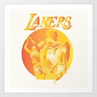 lakers Art Prints featuring Lakers by Istvan Antal