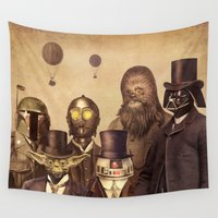 hats Wall Tapestries featuring Victorian Wars  by Terry Fan