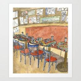 Cafe Trieste Chairs, San Francisco North Beach Art Print