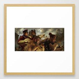 Reign Of Bison Framed Art Print