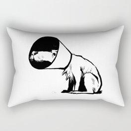 Cone of shame Rectangular Pillow