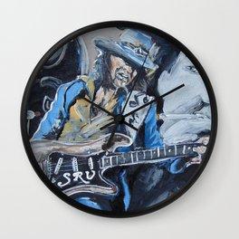 Stevie Ray Vaughn tribute Wall Clock