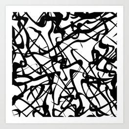 smooth black loops Art Print