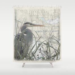 Heron blanket Shower Curtain