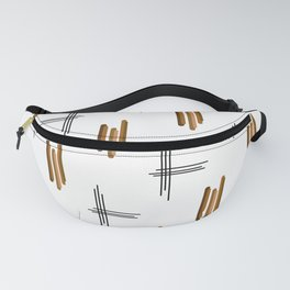 Mid Century Modern Lines Brown Fanny Pack