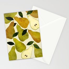 mediterranean pears watercolor Stationery Cards