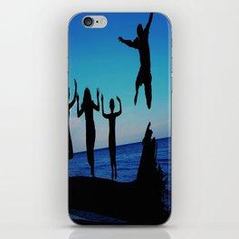 Brownie's beach silhouette iPhone Skin
