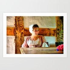 The Farm Girl Art Print