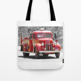 Red Fire Truck Photography Art Tote Bag