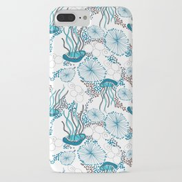 Underwater World with Jellyfishes dance iPhone Case