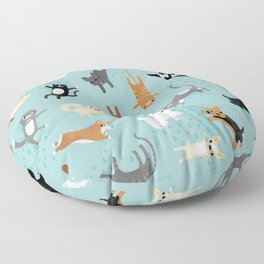 Raining Cats & Dogs Floor Pillow