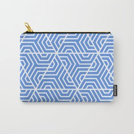 United Nations blue - turquoise - Geometric Seamless Triangles Pattern Carry-All Pouch