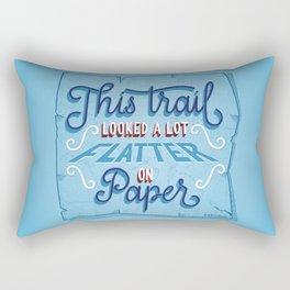 Flatter on Paper Rectangular Pillow
