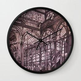 Warm Grey - Crystal Palace, Park Retiro, Madrid Wall Clock