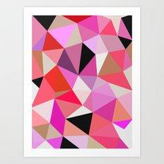 Lipstick Tris Art Print
