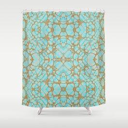 Empress - Gold Veins Pattern Painting Shower Curtain