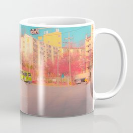 A vivid and dreamy spring season view in the Seoul, Korea  Coffee Mug