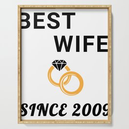 Wife 10th Anniversary Gift, Women's  Wedding Present Print Serving Tray