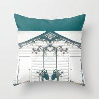 rorschach Throw Pillows featuring rorschach by made 2 take