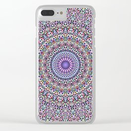 Pastel Jungle Garden Mandala Clear iPhone Case