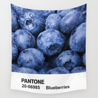 pantone Wall Tapestries featuring PANTONE - Blueberries by Et Voilà