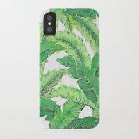 banana leaf iPhone & iPod Cases featuring Banana for banana leaf by Indulgencedecor