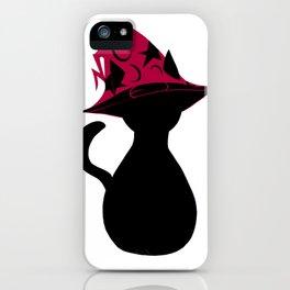 Spooky wizard cat! iPhone Case