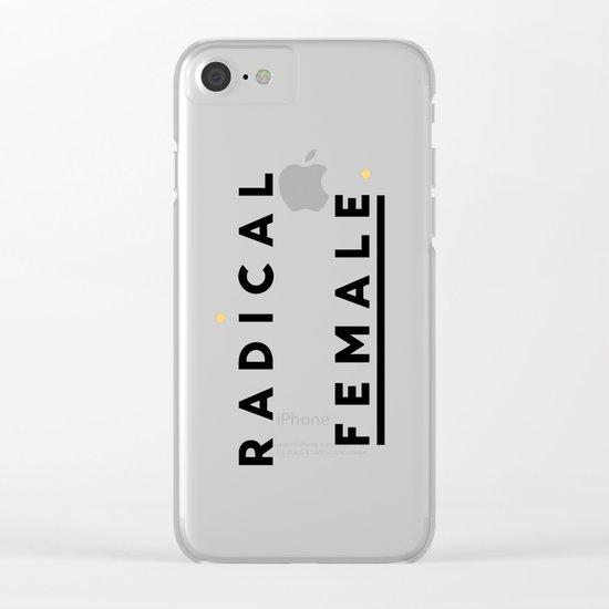 Radical Female Clear iPhone Case