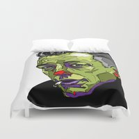 camus Duvet Covers featuring A. Camus by philip painter