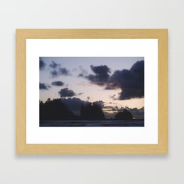 Sunset at La Push Framed Art Print