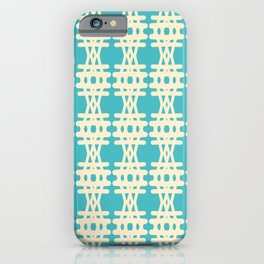 Doodle Woven Pattern iPhone Case