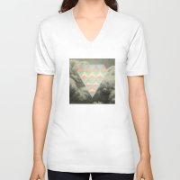 diamond V-neck T-shirts featuring Diamond by Metron