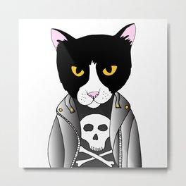 Punk Cat Metal Print