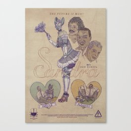 "SANDRA ""Service & Pleasure"" 60s Robota (Front) Canvas Print"