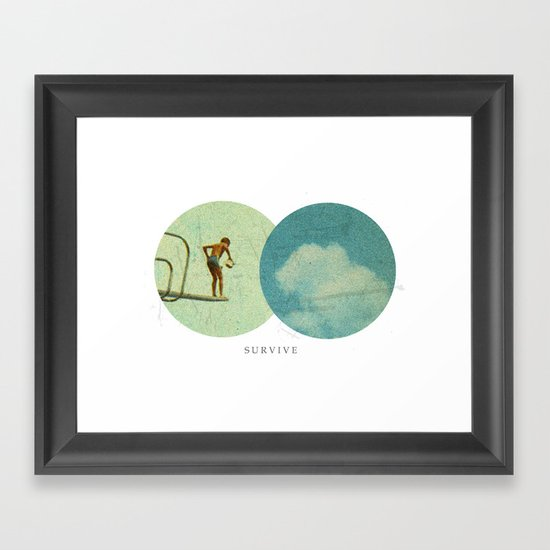 Survive   Collage Framed Art Print