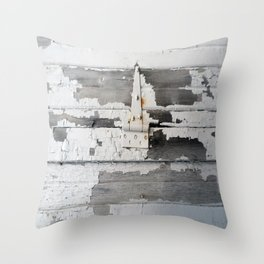 Hinge on Vintage Door Throw Pillow