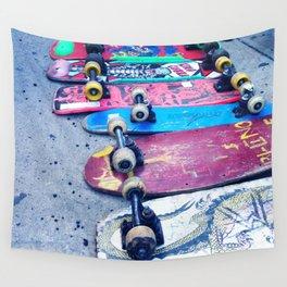 """SKATEBOARD THRIFT"" BY ROBERT DALLAS Wall Tapestry"
