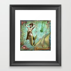Life in the deep blue sea Framed Art Print