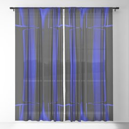 Playing in Blue Sheer Curtain