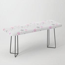 Pink Grey Gray Stars Bench