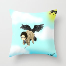 Butt wings Throw Pillow