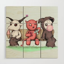 Evil Day Off Wood Wall Art