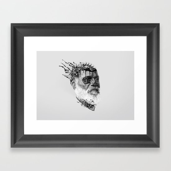 Strange Shapes Framed Art Print