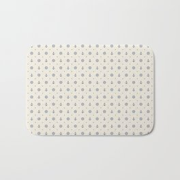 Anchors and Hearts Bath Mat