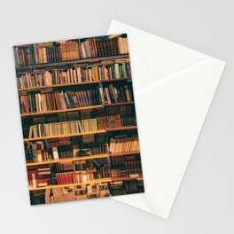 Library Wall Bookcase Photography Stationery Cards