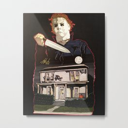 Halloween Michael Myers Metal Print