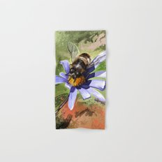 Bee on flower 18 Hand & Bath Towel