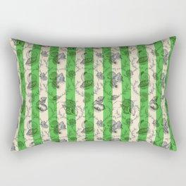Stripes & Shells - green Rectangular Pillow